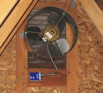 Powered Ventilation. Attic fan installation and attic fan repair & Home Air Conditioner Furnace Attic Fan Attic Vents Attic ...